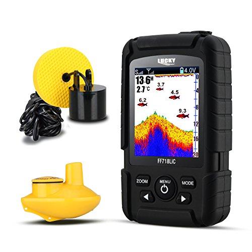 LUCKY Fishfinder 2-in-1 Wired & Wireless...