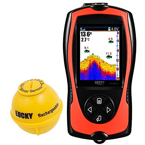 LUCKY Fischfinder Echolot Wireless Kleiner...