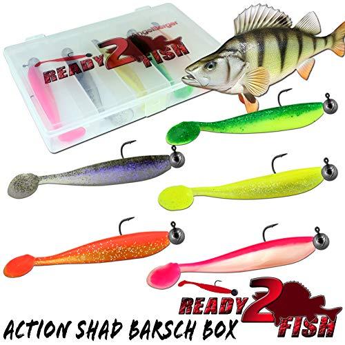 Ready2Fish Action Shad mit Box Gummifisch Set...